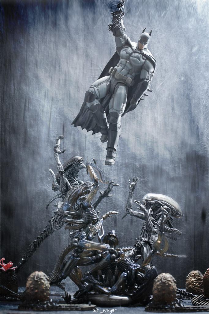 batman vs alien by - photo #37