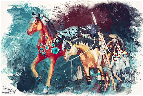 Image of two toy horses from the Native American Festival