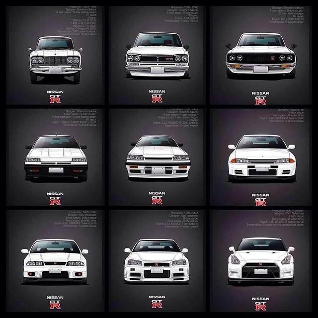Nissan Skyline All Generations: Godzilla Timeline #infamousmedia #photography