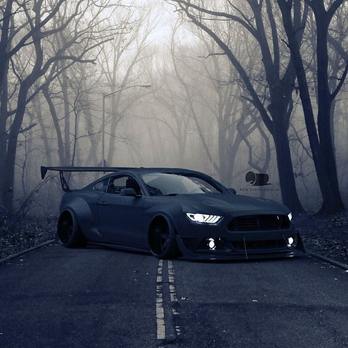 Like A Howling Wolf A Scary Mustang By Rob Evans Design