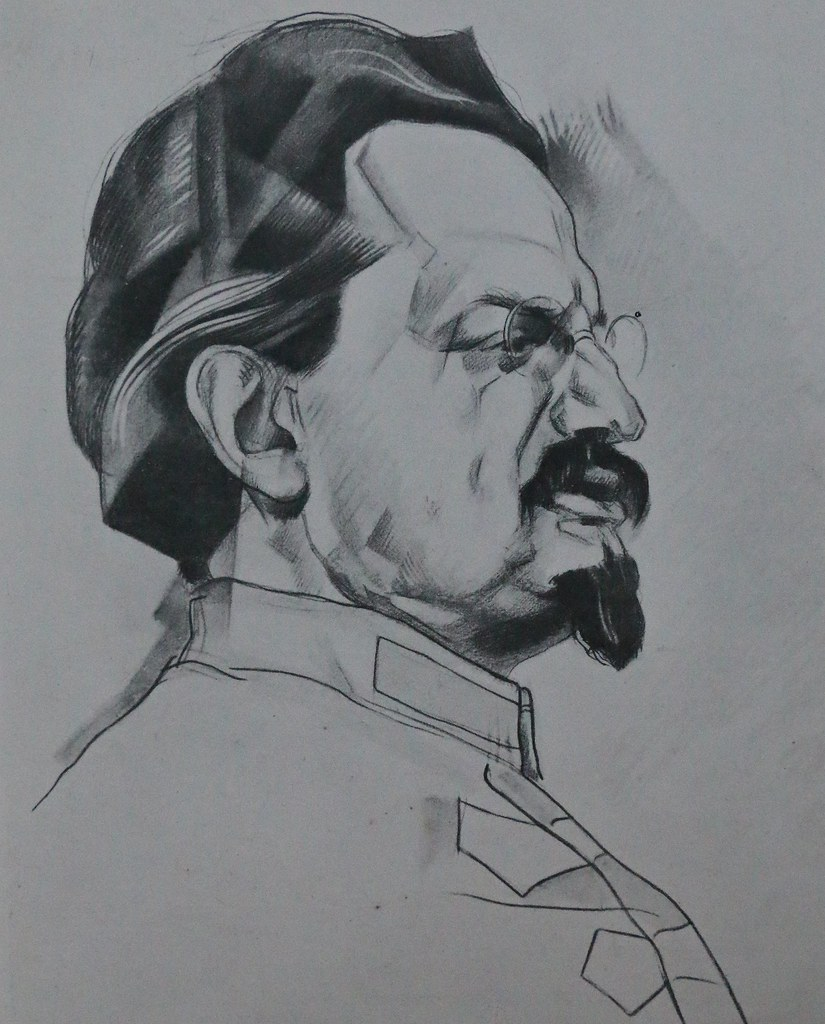 Portrait of Leon Trotsky, by Yury Annenkov, [s.d.] | by The Graduate Institute, Geneva