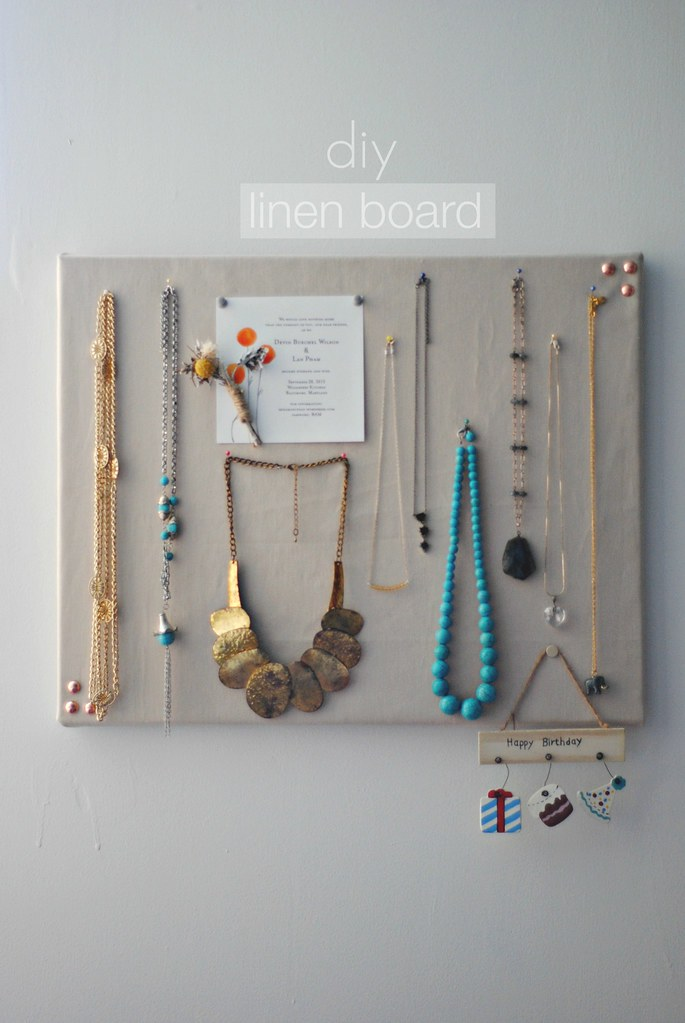Diy Linen Pinboard Morestomach