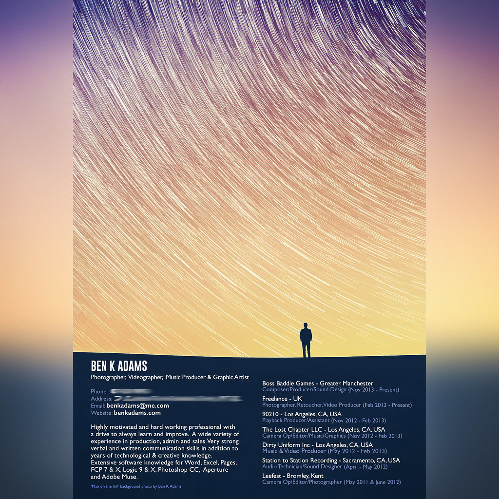 Ben K Adams Creative Photography Cv Prints Bandcamp .  Resume Finder