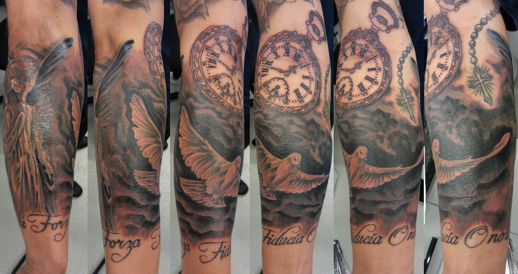 Pigeon Amp Watch Watch In Progress Bl Design Tattoo Studio Flickr