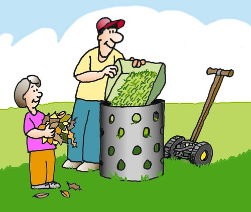 Yard trim composting