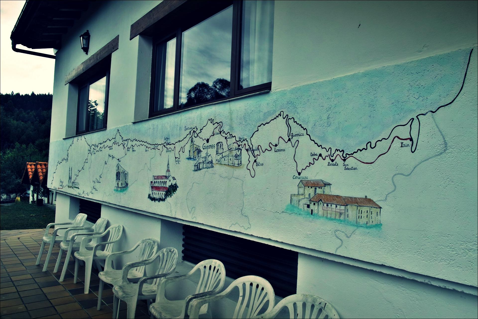 궤메스 알베르게 지도-'카미노 데 산티아고 북쪽길. 노하에서 궤메스. (Camino del Norte - Noja to Güemes)'