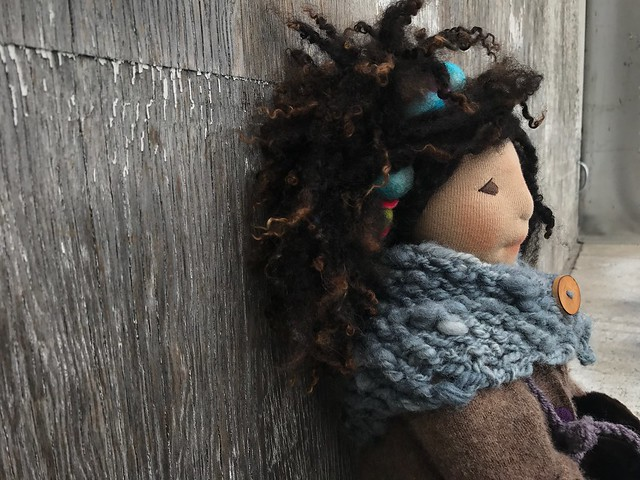 Magnolia - natural cloth doll 38cm