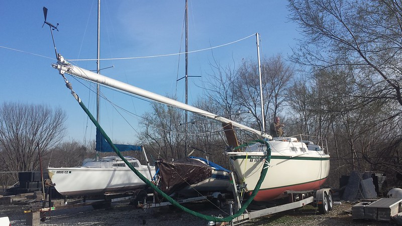 Single Handed Mast Stepping without a Crane - SailNet Community