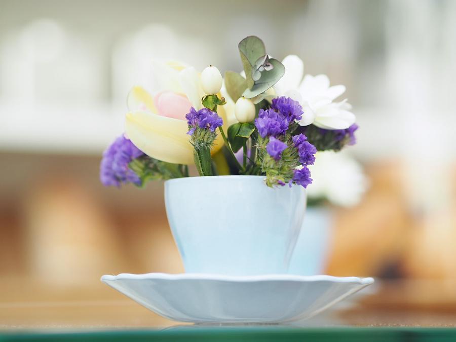 tea cup flowers