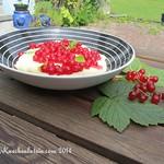 Grießbrei mit roten Johannisbeeren