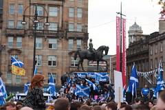 Yes rally Glasgow ahead of #indyref Independence Referendum