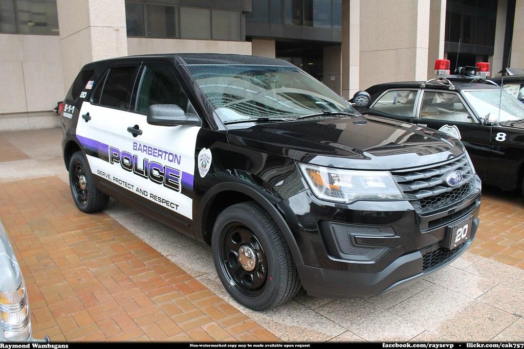 White Ford Explorer >> Barberton Ohio Police 2016 Ford Explorer Interceptor Utili ...