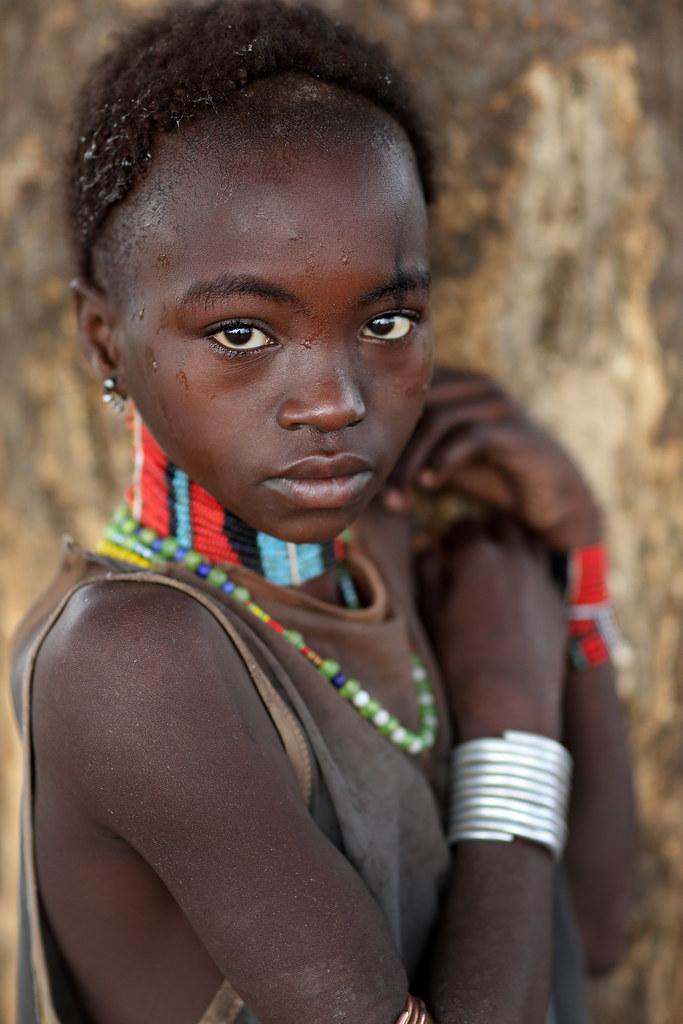 Ethiopian Tribes, Beautiful Hamer Girl  Beautiful Young -2164