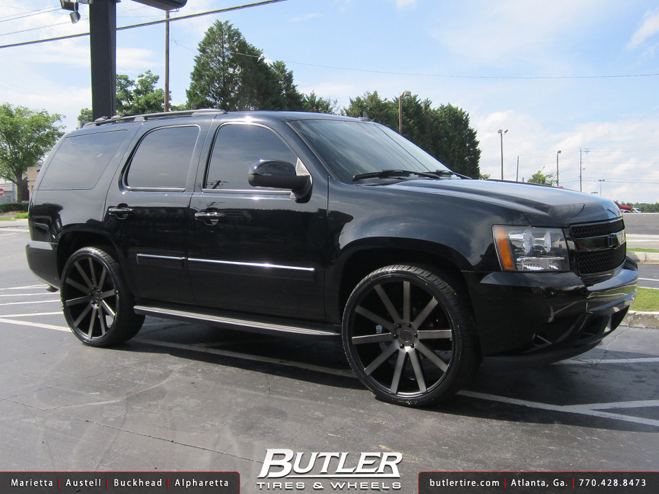 Chevy Tahoe with 24in DUB Shot Calla Wheels | Additional Pic ...