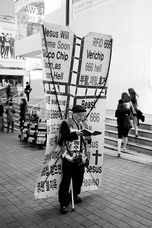 Streets Of Myeong-Dong Public Evangelism