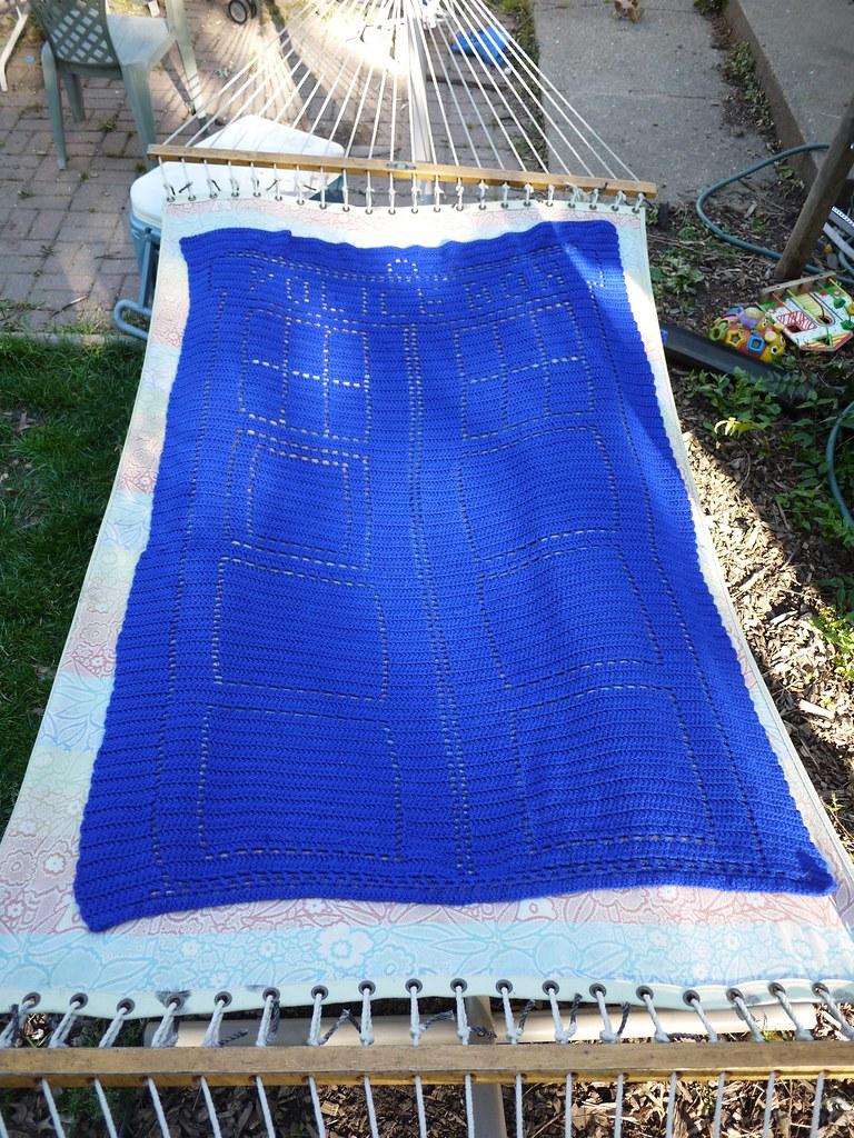 Tardis Afghan Filet Crochet - Triple Crochet - Knit ...