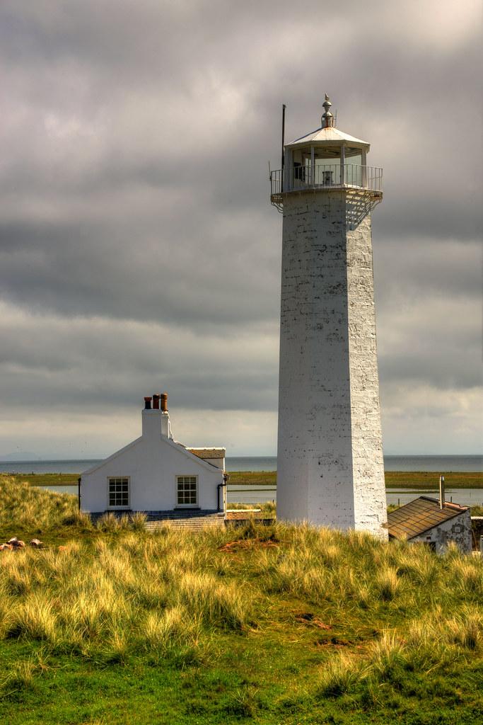 Walney Lighthouse Haws Point Walney Island Cumbria Eng
