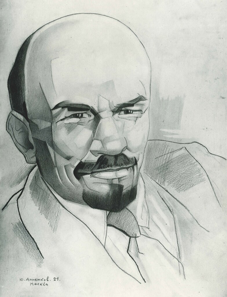 Portrait of Lenin by Yuri Annenkov, Moscow (1921) | by The Graduate Institute, Geneva