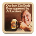 Our Iron City Draft Beer approved by Al Luccioni.