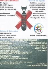 Locandina- forum dei giovani Stop bombing Gaza