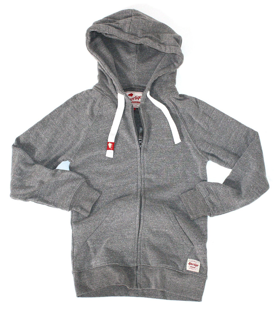 Womens grey zip up hoodie