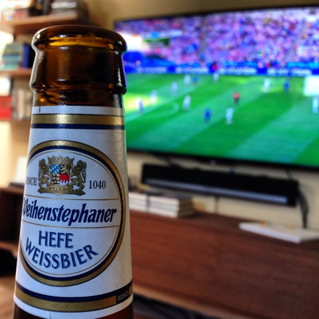 Rooting for #Argentina. Drinking beer from #Germany. This