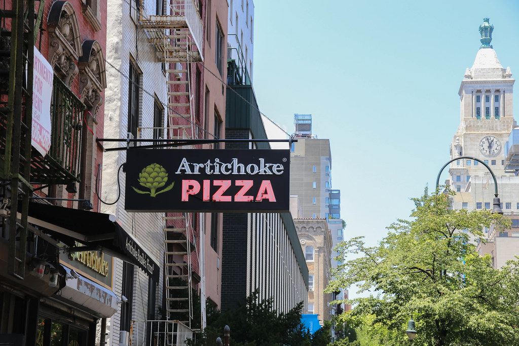 artichoke pizza nyc slice yum gormet