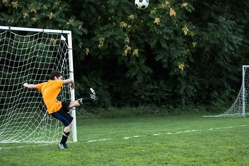Boy Goalie Kicking Soccer Ball Soccer Parks and Rec  September 09, 2014 23