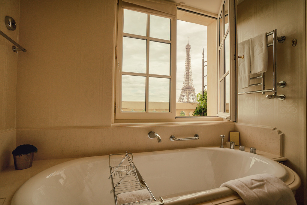 Paris Shangri La Hotel Bathroom Eiffel Tower View Flickr