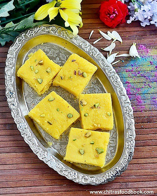 coconut khoya barfi recipe