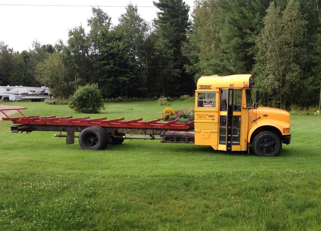 School Bus Flatbed Elocin Flickr