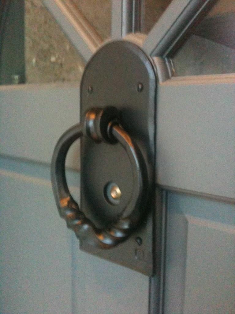 Knocker custom door knocker with peep hole forgearama flickr - Door knockers with peepholes ...