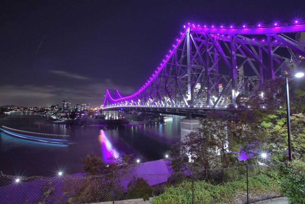 Purple Story Bridge And White Story Bridge For