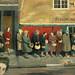 """1944 ... """"Queue at the Fish Shop"""" (UK)"""