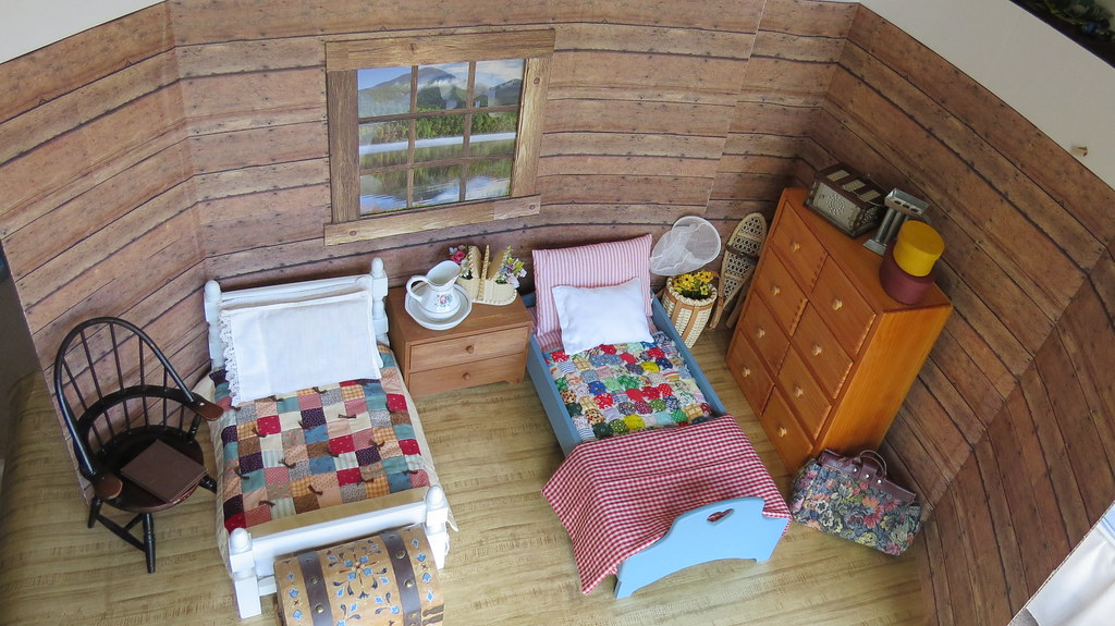 9 behind the scenes 1 4 scale cabin bedroom diorama a for The girl in the cabin