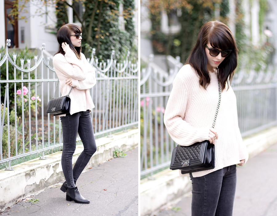 Pink Oversized Pullover Chanel Le Boy Bag Gucci Sunglasses Flickr