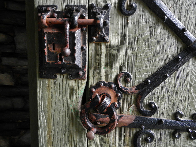 Door Bits and Pieces in Gravensteen in Ghent, Belgium