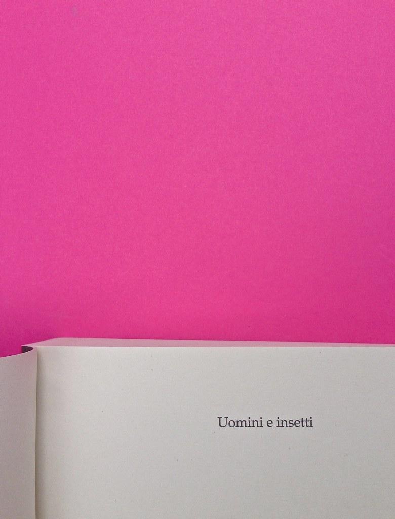 Alberto Milazzo, Uomini e insetti. Mondadori 2015. Art director Giacomo Callo; graphic designer Andrea Geremia. Pagina del titolo, a pag. 5 (part.), 1