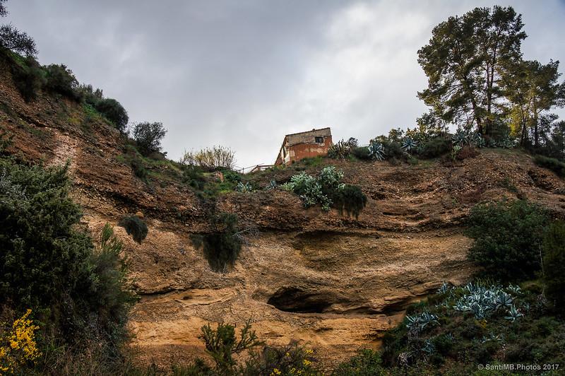 Barranco de la orilla del Ebro