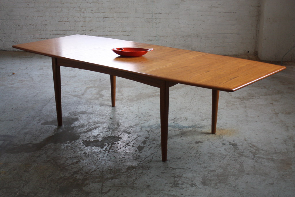 falster expandable boat shaped dining table with dual butt flickr