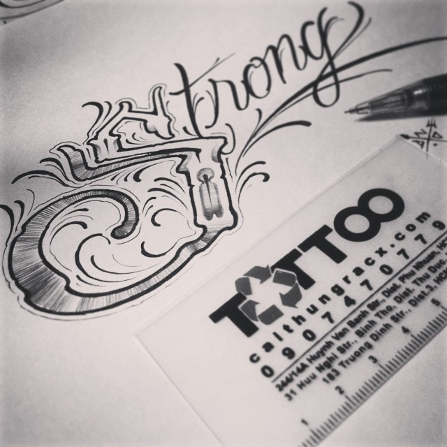 Be Strong ! #lettering #letterslove #tattoo #handtype #han