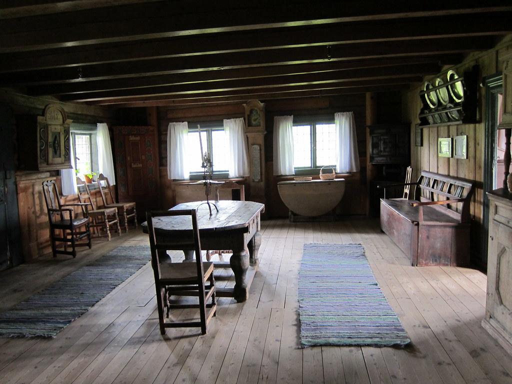 Interior Living Room Old Hvam Farm Interior From Early