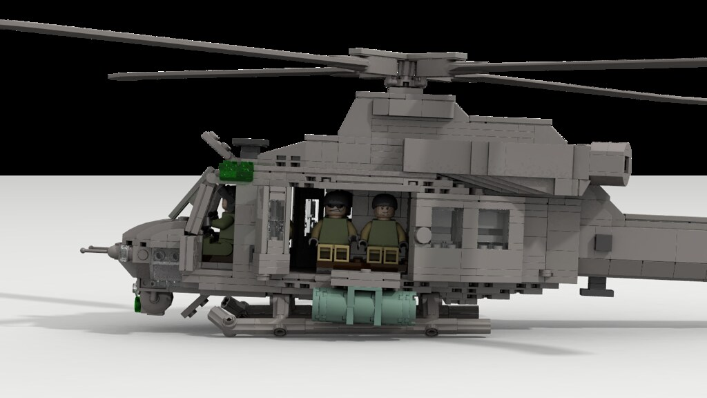 Super Huey w/ Doors Open | Front two doors swing out while ...