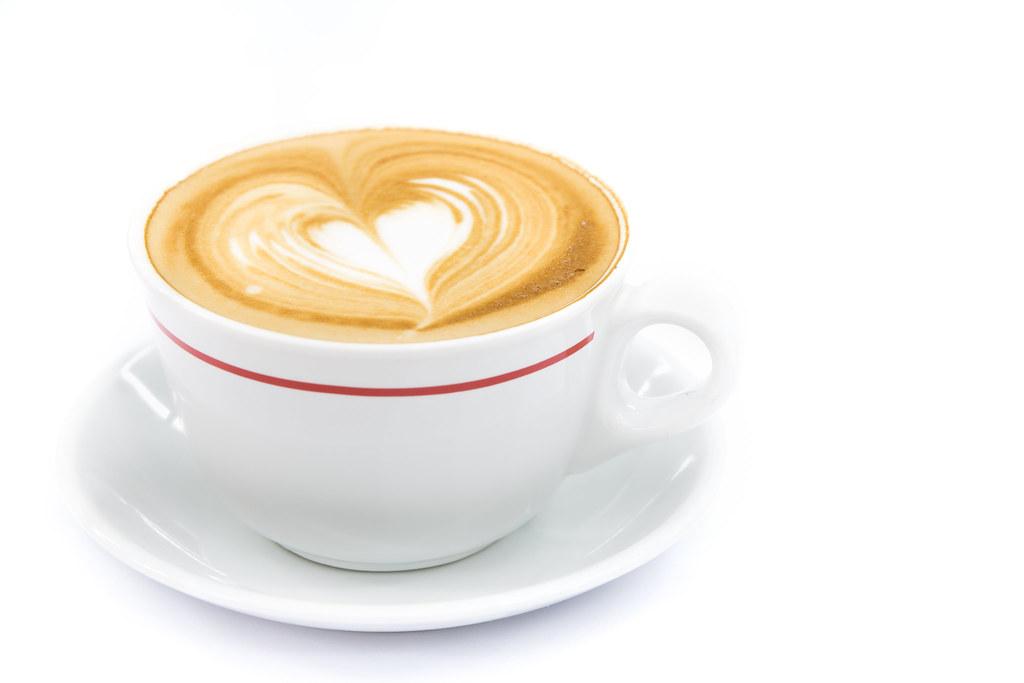 hot coffee white background - photo #21