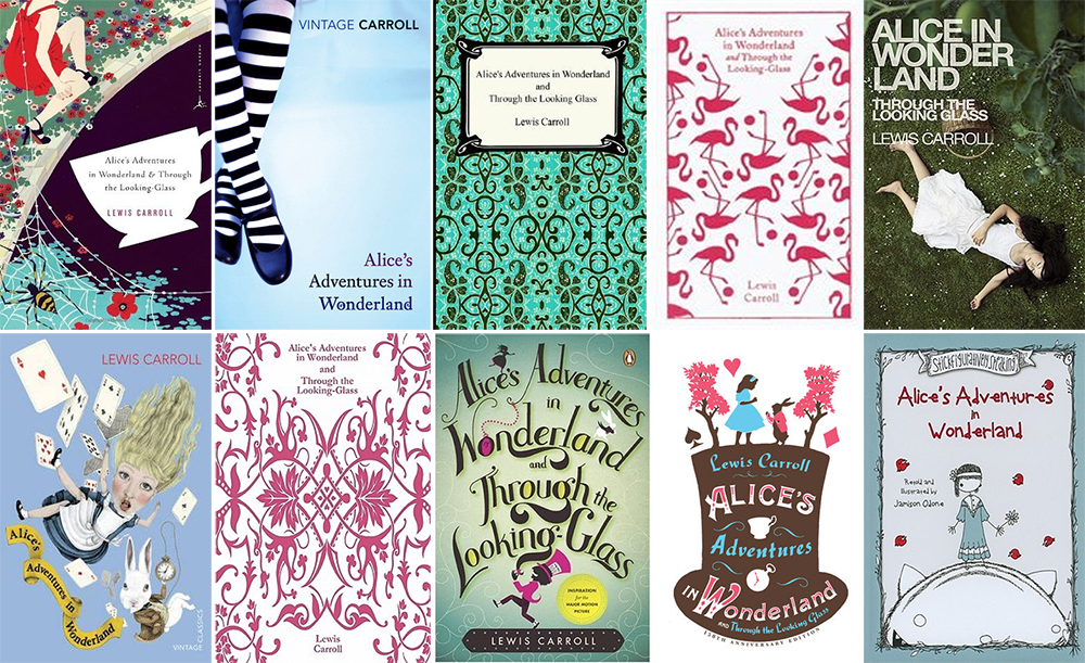 Penguin Random House Book Cover Competition ~ Years of alice wonderland s best cover designs
