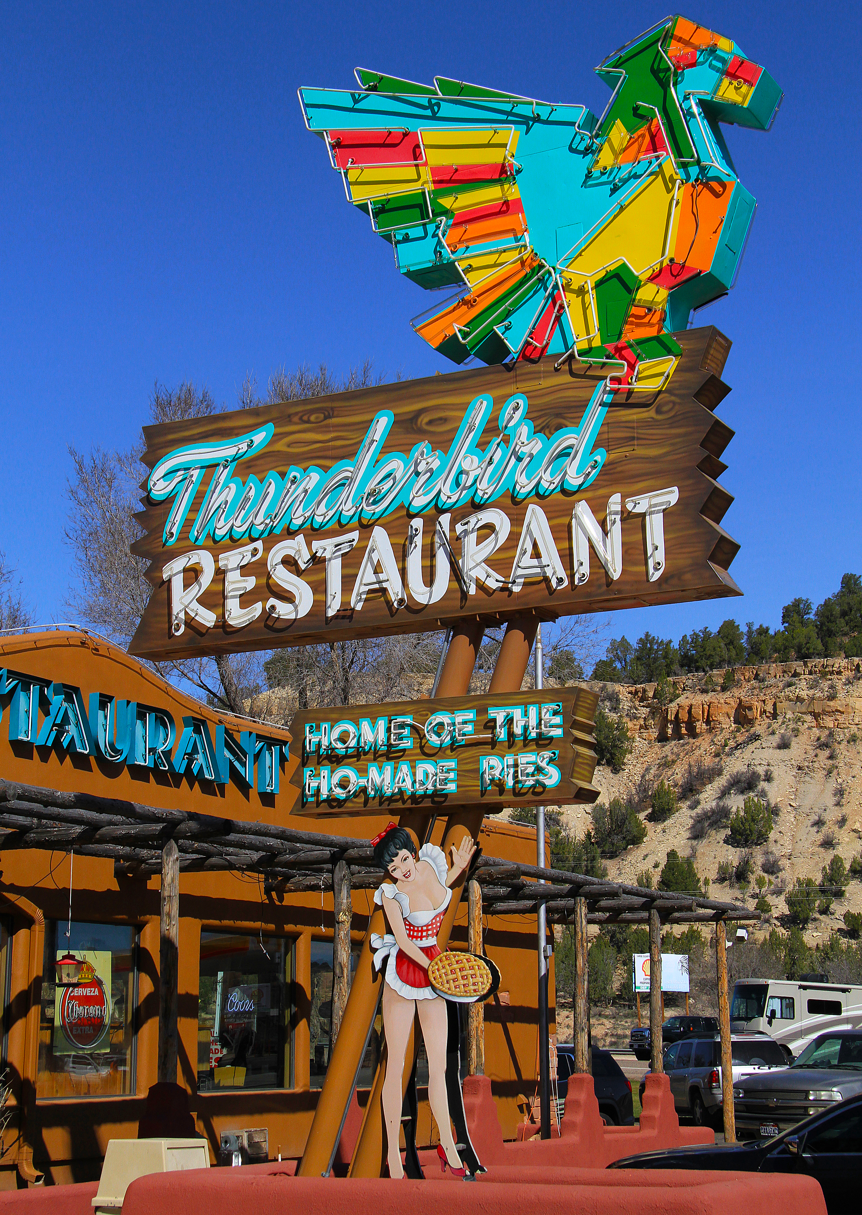 Thunderbird Restaurant - Junction U.S. Route 89 & Utah State Route 9, Mount Carmel, Utah U.S.A. - March 16, 2017