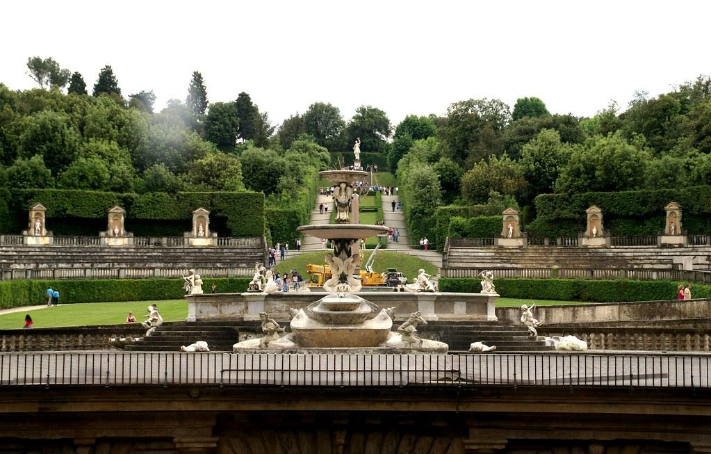 Florenz giardino di boboli aussicht vom palazzo pitti f for Giardino 3d gratis italiano