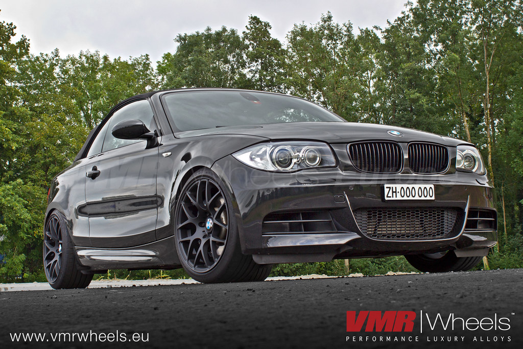 vmr wheels v710 matte black bmw 1er cabrio e88 tte black flickr. Black Bedroom Furniture Sets. Home Design Ideas