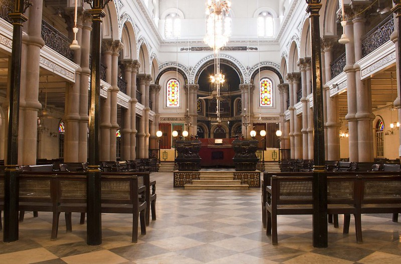 Inside View of Magen David Synagogue - Kolkata, India