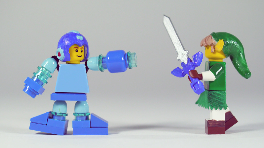 Lego Mega Man Vs Link See How To Build It Www Youtube